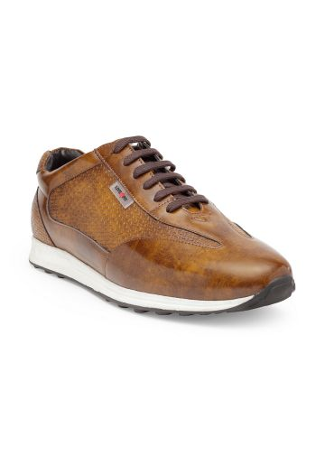LIVE FIT FOOTWEAR MEN SHOES TAN (GLOSSY)