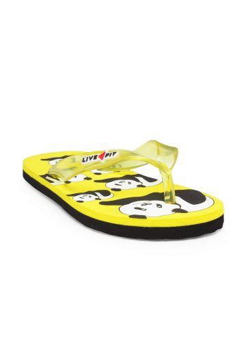 LIVE FIT FOOTWEAR KIDS FLIPFLOP YELLOW