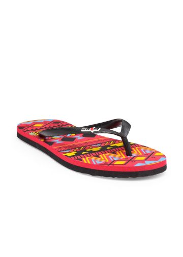 LIVE FIT FOOTWEAR WOMEN FLIPFLOP PINK MULTICOLOR
