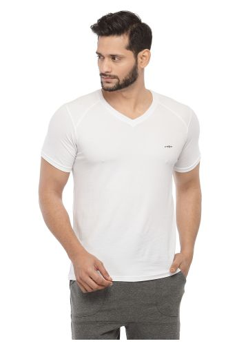 LIVE FIT BAMBOO BLEND  YOGA T -SHIRT  - IVORY