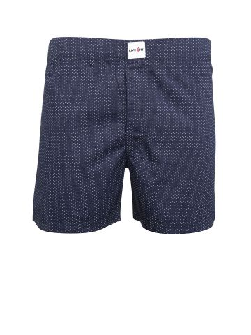 LIVE FIT INNERWEAR BOXER SHORT NAVY DOT PRINT
