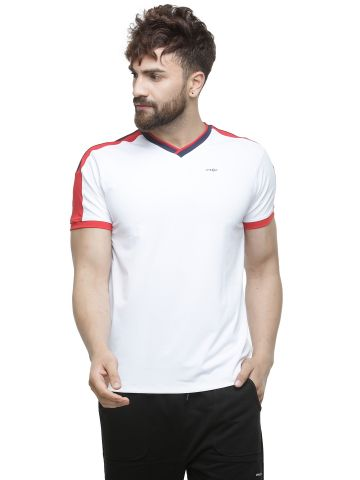 LIVE FIT  SPORTSWEAR  T SHIRT  - WHITE/RED