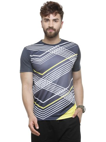 LIVE FIT SPORTSWEAR  T SHIRT - GRAPHITE