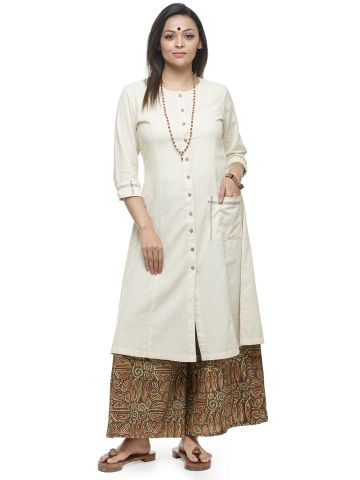 AASTHA WOMEN  KHADI KURTA CREAM