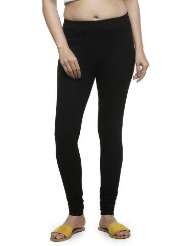 AASTHA WOMEN INDOWESTERN LEGGINGS BLACK-1
