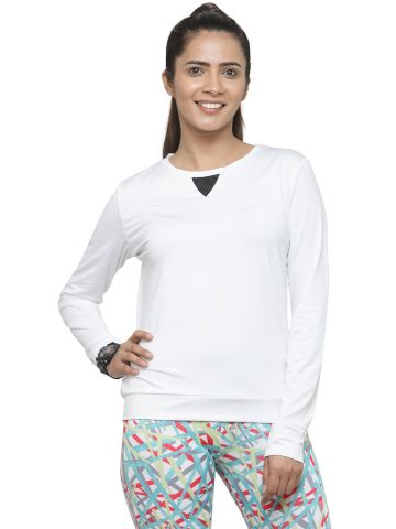 LIVE FIT WOMEN INDOWESTERN YOGATOP WHITE