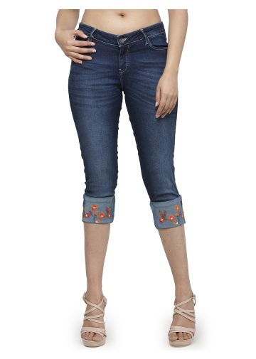 LIVE FIT WOMEN INDOWESTERN COTTON /POLY/LYCRA, EMBROIDERED DENIM