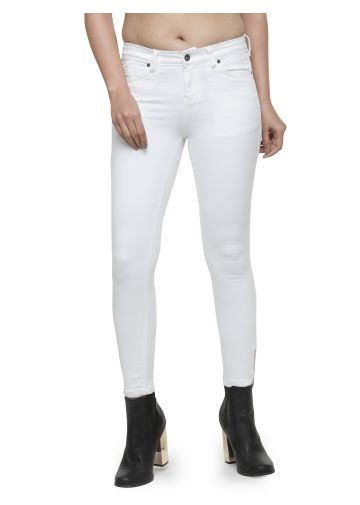 LIVE FIT WOMEN INDOWESTERN DENIM WHITE