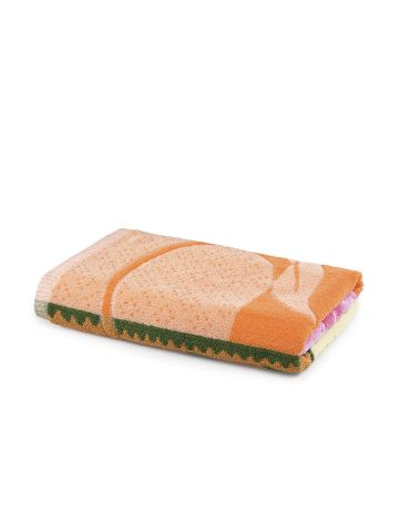 AASTHA HOME BATH TOWEL PINK/ORANGE/GREEN