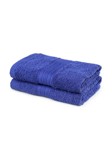 AASTHA HOME HAND TOWEL ROYAL BLUE (SET OF 2)