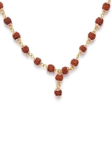 SANSKAR RUDRAKSHA NECKLACE BROWN-1