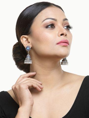 AASTHA ACCESSORIES EARRINGS Oxidised Silver-6
