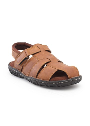 LIVE FIT FOOTWEAR MEN SANDAL BROWN