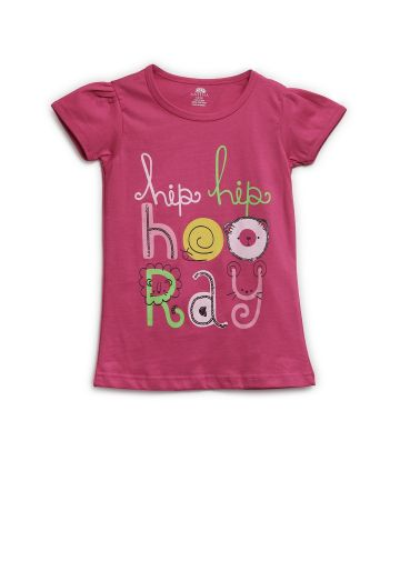 AASTHA KIDS GIRL T SHIRTS FUSCHIA
