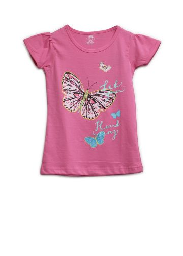 AASTHA KIDS GIRL T SHIRTS PINK