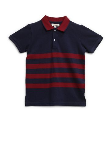 SANSKAR KIDSWEAR T SHIRTS NAVY/ RED