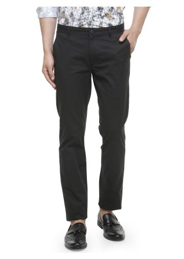 SANSKAR MENSWEAR CASUAL TROUSER BLACK