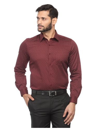SANSKAR MENSWEAR FORMAL SHIRT MAROON