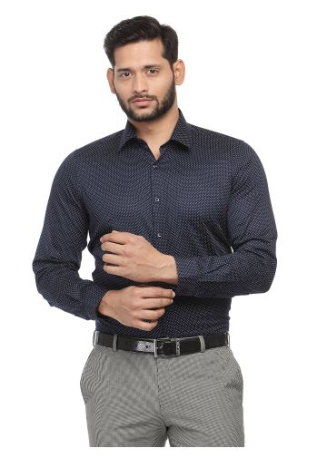 SANSKAR MENSWEAR FORMAL SHIRT NAVY