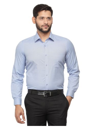 SANSKAR MENSWEAR FORMAL SHIRT BLUE