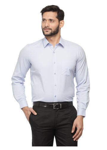 SANSKAR MENSWEAR FORMAL SHIRT LT. BLUE