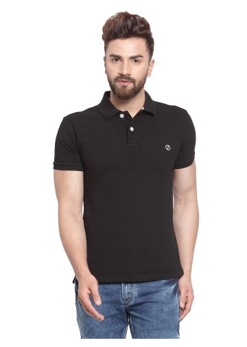 SANSKAR MENSWEAR FASHION POLO BLACK
