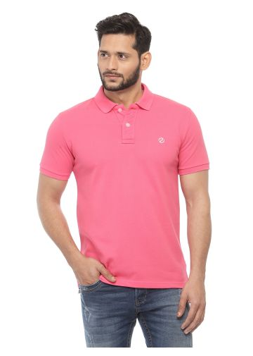 SANSKAR MENSWEAR FASHION POLO SACHET PINK