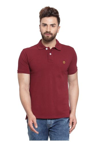 SANSKAR MENSWEAR FASHION POLO PLUM