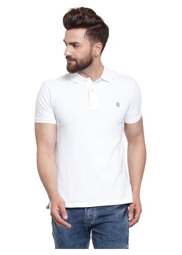 SANSKAR MENSWEAR FASHION POLO WHITE