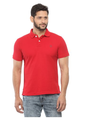 SANSKAR MENSWEAR FASHION POLO RED
