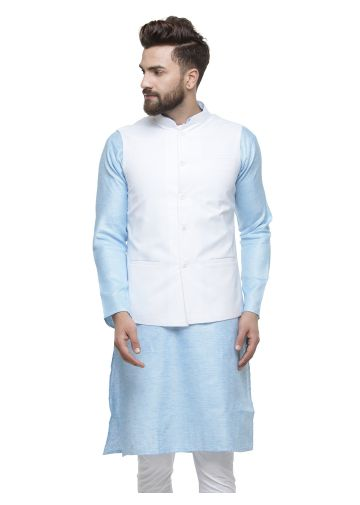 SANSKAR MENSWEAR WAIST COAT OFF WHITE