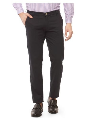 SANSKAR MENSWEAR CASUAL TROUSER NAVY