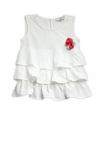 AASTHA KIDSWEAR TOP OFF WHITE