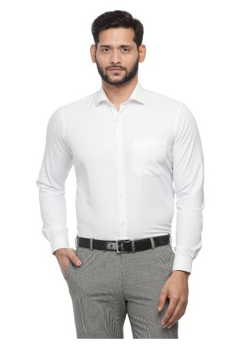 SANSKAR MENSWEAR FORMAL SHIRT WHITE